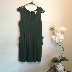 Charlotte 🍃 Green Thick Sleeveless Dress